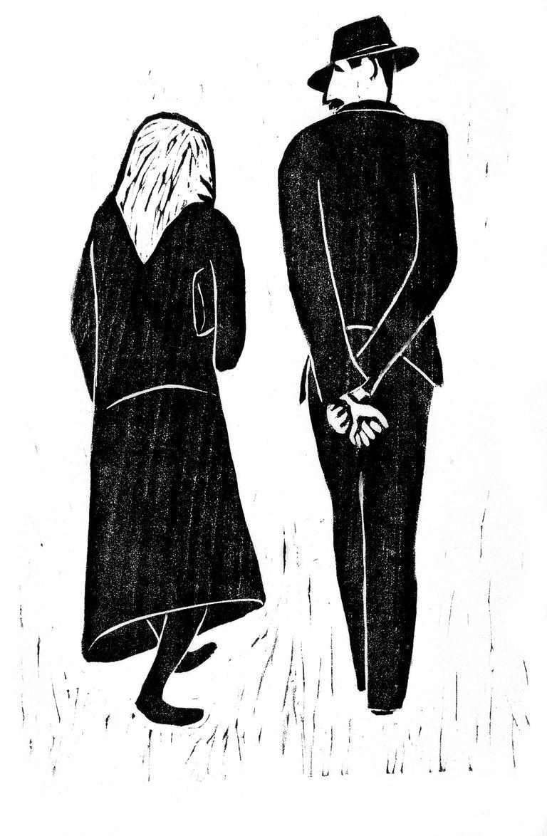 Schreitendes Paar