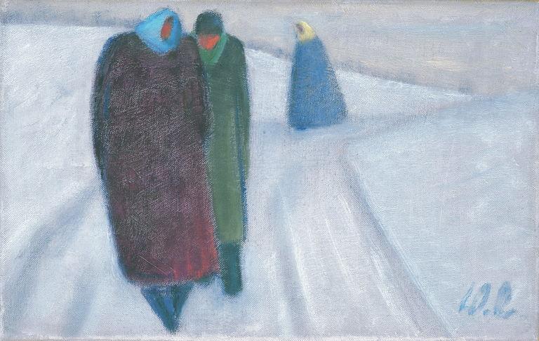 Trije hodeči v zimi