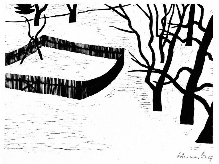 Kl. Garten im Schnee