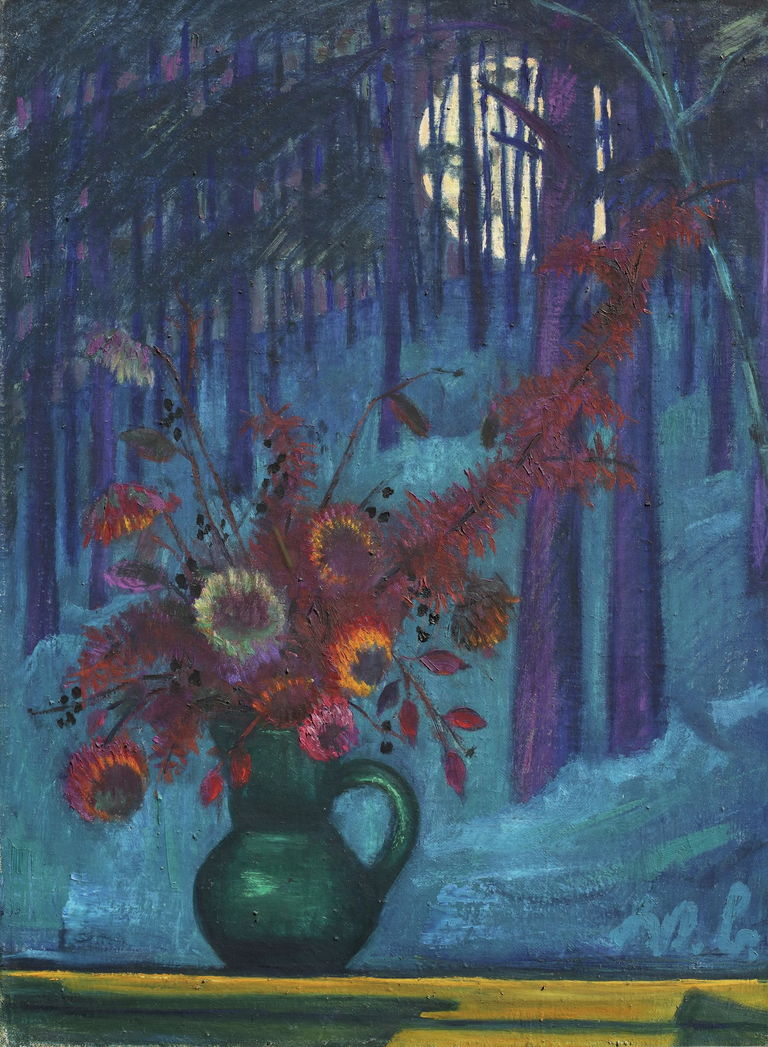 Strohblumen und Wintermond