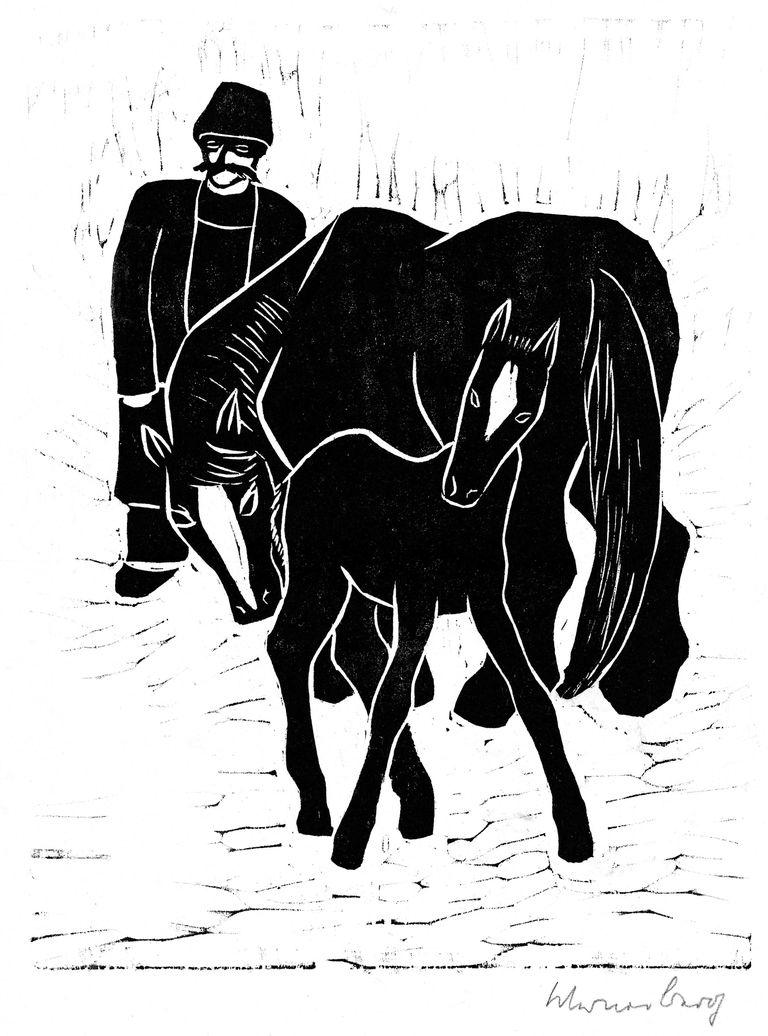 Farmer, Mare, Foal
