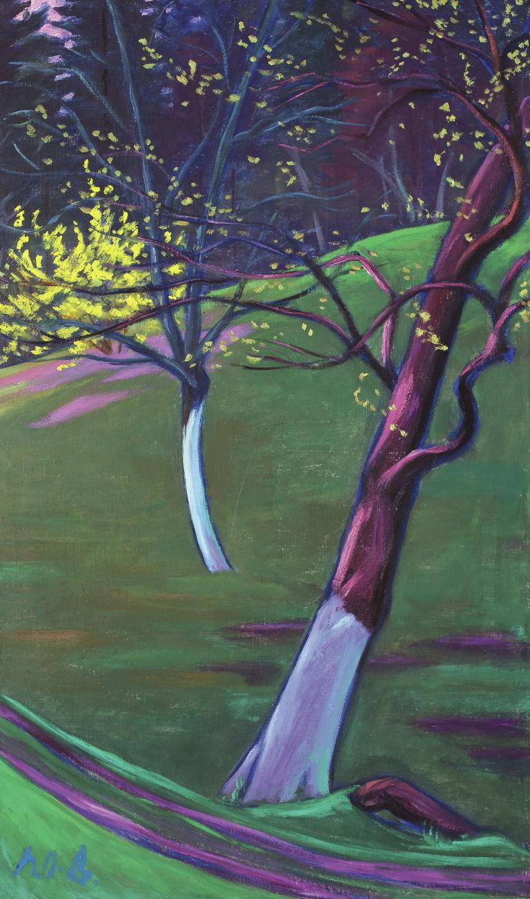 Obstbäume und Forsythie