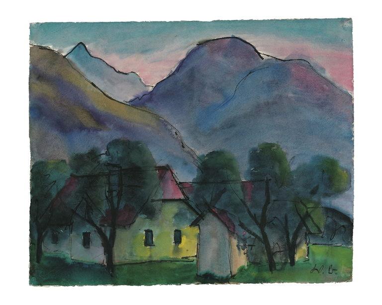 Häuser unterm Berg